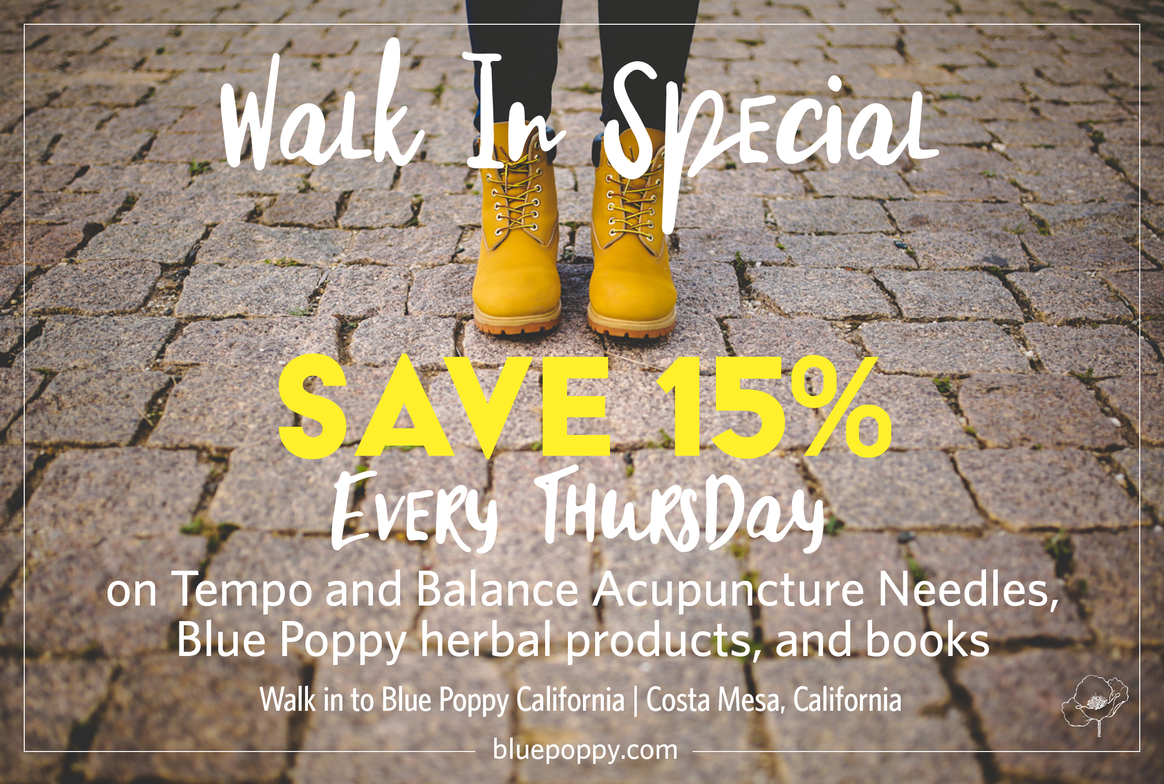 Blue Poppy Costa Mesa Branch - Walk In Thursdays