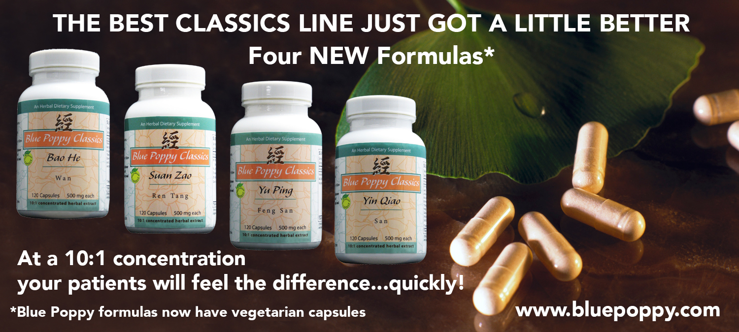 Four new Blue Poppy Classic formulas with veggie caps!